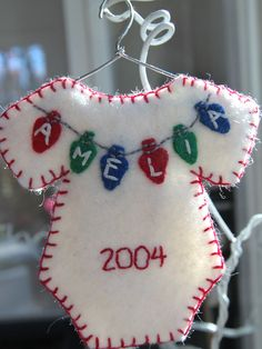 Personalized onesie ornament Made to order by EdgeOfClarity