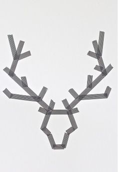 Christmas Art: Make Reindeer with tape on a canvas. Paint over it. Peel off tape. (But with a Christmas tree!)