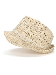 No forehead wrinkles here.. I cover up with a genie by Eugenia Kim Darcy Paper Crochet Fedora with Knot