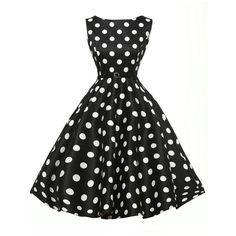 428aabd9a12a4 Plus Size Women Dresses Summer Style Robe Rockabilly Dress Sleeveless Polka  Dot Print Retro Vintage Swing Casual Vestidos