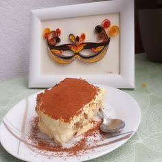 Quilling mask and tiramisu!🤗 Quilling Art, Tiramisu, Paper, Ethnic Recipes, Ideas, Food, Essen, Meals, Tiramisu Cake