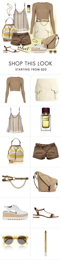 """""""Crushing It: Summer to Fall Velvet"""" by ysmn-pan ❤ liked on Polyvore featuring Topshop, Anthony Vaccarello, Calypso St. Barth, Dolce&Gabbana, Tommy Hilfiger, Just Cavalli, Ralph Lauren Collection, STELLA McCARTNEY, Nicholas Kirkwood and H&M"""