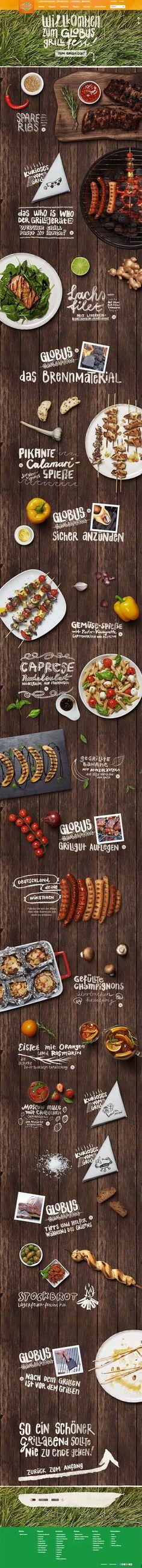 The Globus Grillfest by Kathrin Schmitz, via Behance Tendances Iscomigoo Webdesign http://iscomigoo-webdesign.blogspot.fr/: