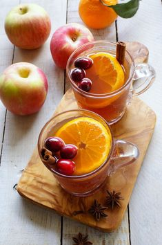 Yield: 6 mugs Ingredients 2 cups cranberry juice 2 cups apple cider or juice 2 & cups water, to… Mulled Cider Recipe, Mulled Apple Cider, Refreshing Drinks, Yummy Drinks, Patty Food, Biscuits, Fresco, Smoothie Drinks, Smoothies