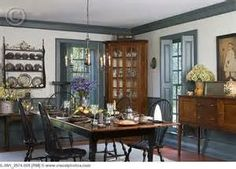 Colonial style dining room by SMB Period Interiors