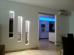 Modern pop wall niches designs ideas with lighting for wall dec oration 2019 Niche Design, Wall Design, House Design, Living Room Partition Design, Room Partition Designs, Living Room Modern, Living Room Designs, Living Room Decor, Decoration Hall