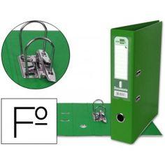 Práctico y elegante archivador FOLIO con mecanismo de palanca y rado, fabricado en cartón contracolado forrado en PVC color verde