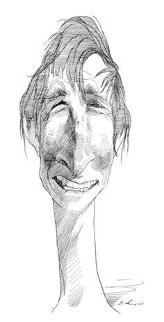 John Updike  by David Levine