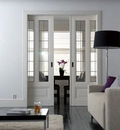 Beautiful pocket door.  I love pocket doors, can still be closed but don't take up space when open.