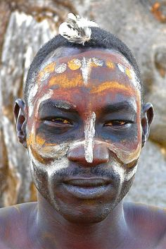 Nuba - body painting from Sudan