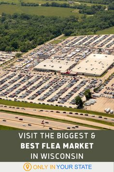If you love great deals and antique treasures, you'll want to travel to the biggest and best flea market in Wisconsin, 7 Mile Fair. It's a paradise for shoppers. Vacations To Go, Vacation Places, Hidden Beach, Local Attractions, Places Of Interest, Usa Travel, Natural Wonders, Fleas, Cleaning Tips