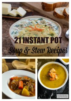21 amazing instant pot pressure cooker soup recipes! Delicious soups and stews in 30-45 minutes!
