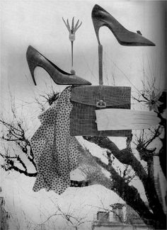shoes and bags still life, 1959, harpers bazaar