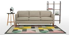 Walken 3 Seater Sofa in calico beige | made.com