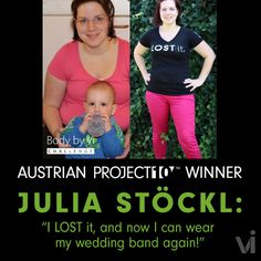 "Austrian PROJECT 10 winner Julia Stöckl: ""I LOST it, and now I can wear my wedding band again!"" - ViSalus BlogViSalus Blog"