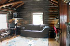 A Bearfort Lodge sitting room prior to restoration completion - I was about mid way through work on this particular room