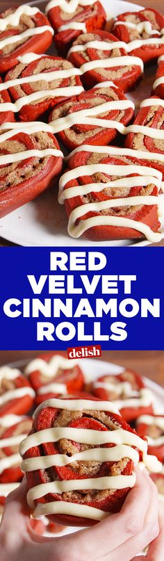 Red Velvet Cinnamon Rolls could put Cinnabon out of business. Get the recipe on Delish.com.