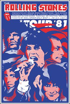Rolling Stones '81 tour poster