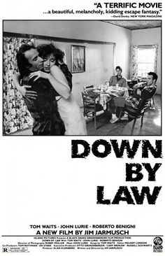A great poster from the classic 1986 Jim Jarmusch movie Down by Law! Starring John Lurie, Tom Waits, and Roberto Benigni. Ships fast. 11x17 inches. Need Poster Mounts..?