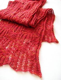 Inspiration station: patterns to knit in red, white, and blue: Amy's scarf by Amy van de Laar!