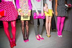 Kate Spade #Polkadots #neon #pink