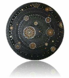 Mosaic.  'Batna Galaxy'  Francoise Moulet  | http://francoise-moulet.bamm.org.uk/