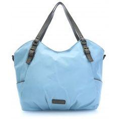 wardow.com - #blue #trend #bag #fashion #Liebeskind Nylon Paulette Shopper hellblau