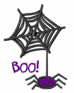 Free Embroidery Design: Scary Spider - I Sew Free