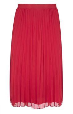 Coral Midi Pleated Skirt