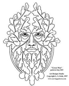 green man drawing - Google Search