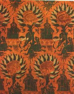 Silk fabric, 14. c. Lucca, Italy. Berlin, Kunstgewebrbemuseum. In: 80-7106-1476-8 p. 75