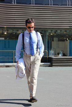 #Blue #Suspenders & #tie