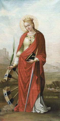 Catholic Saints, Patron Saints, St Catherine Of Alexandria, Saint Katherine, American Dad, Orthodox Icons, Blessed Mother, Sacred Art, Religious Art