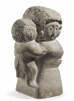 William Edmondson (1874-1951) Mother and Child carved limestone 11¼ in. high  Sold for $263,000.00 at Christie's.  Anonymous Works