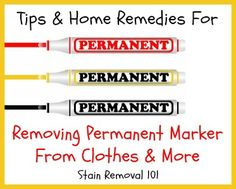 Below I've gathered tips and home remedies for removing permanent marker from clothes and your skin.  Everyone's got one or more Sharpies around their