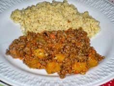 Carne Moída com Legumes  http://www.menucriativo.com/2014/07/carne-moida-com-legumes.html