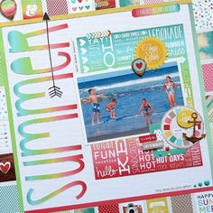 Summer **Simple Stories DT** - Scrapbook.com - Made with Simple Stories Good Day Sunshine collection.
