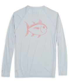 From fishing to hiking, or a full day outside, you'll look and feel good with the Southern Tide Skipjack Performance long sleeve tee! 100% Polyester.