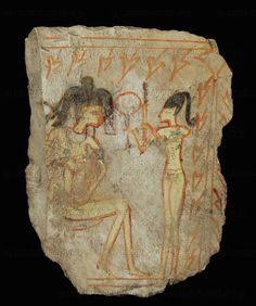 ancient egyptian toilets | Use of the mirrors in Ancient Egypt; one of the earliest image of a ...