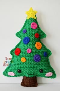 Christmas Tree Kawaii Cuddler™ Crochet Pattern