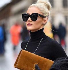 A linda @natanadeleon sabe que pra um look maravilhoso não pode faltar um óculos de sol bem estiloso! #celine Amamos ❤️ #oticaswanny #natanadeleon