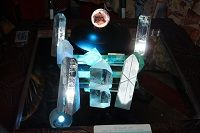 For sale Unique Very Cool Optical Glass Prism Art Hand-carved signed & numbered by Artist Frankie v