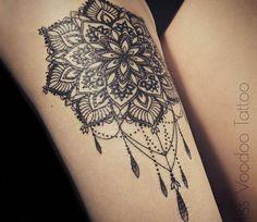 Jewelry mandala tattoo by Miss Voodoo Tattoo