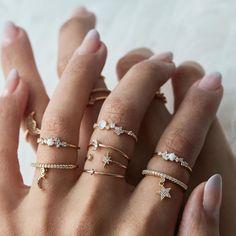 Rue Gembon Preston Gold Ring Set - Must Have Accessories - Jewelry Hand Jewelry, Dainty Jewelry, Cute Jewelry, Jewelry Accessories, Jewelry Necklaces, Jewelry Design, Gold Bracelets, Silver Jewelry, Bohemian Jewelry