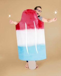 Patriotic Popsicle Costumecountryliving Patriotic Costumes, Easy Halloween Costumes For Women, Homemade Halloween Costumes, Last Minute Halloween Costumes, Easy Costumes, Halloween Diy, Haunted Halloween, Pop, Crafts