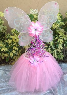 Pink Princess Tutu Fairy Costume Tinkerbell by partiesandfun, $20.00
