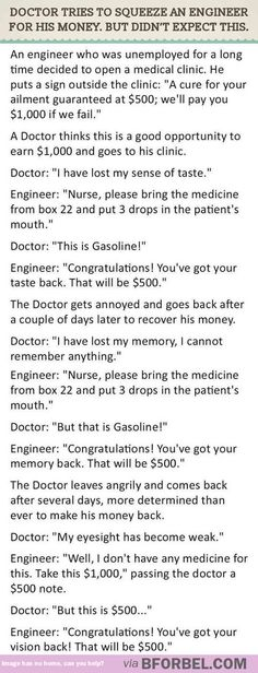 There's no winning an engineer