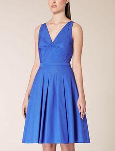 Cotton poplin dress, cornflower blue - DANILA Max Mara