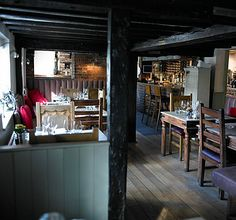Hand & Flowers, Marlow, UK - proper pub food and 2 Mich *'s to boot - and 4 bar stools that do not need a reservation!