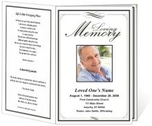 Template For Memorial Service Single Fold Order Of Service For